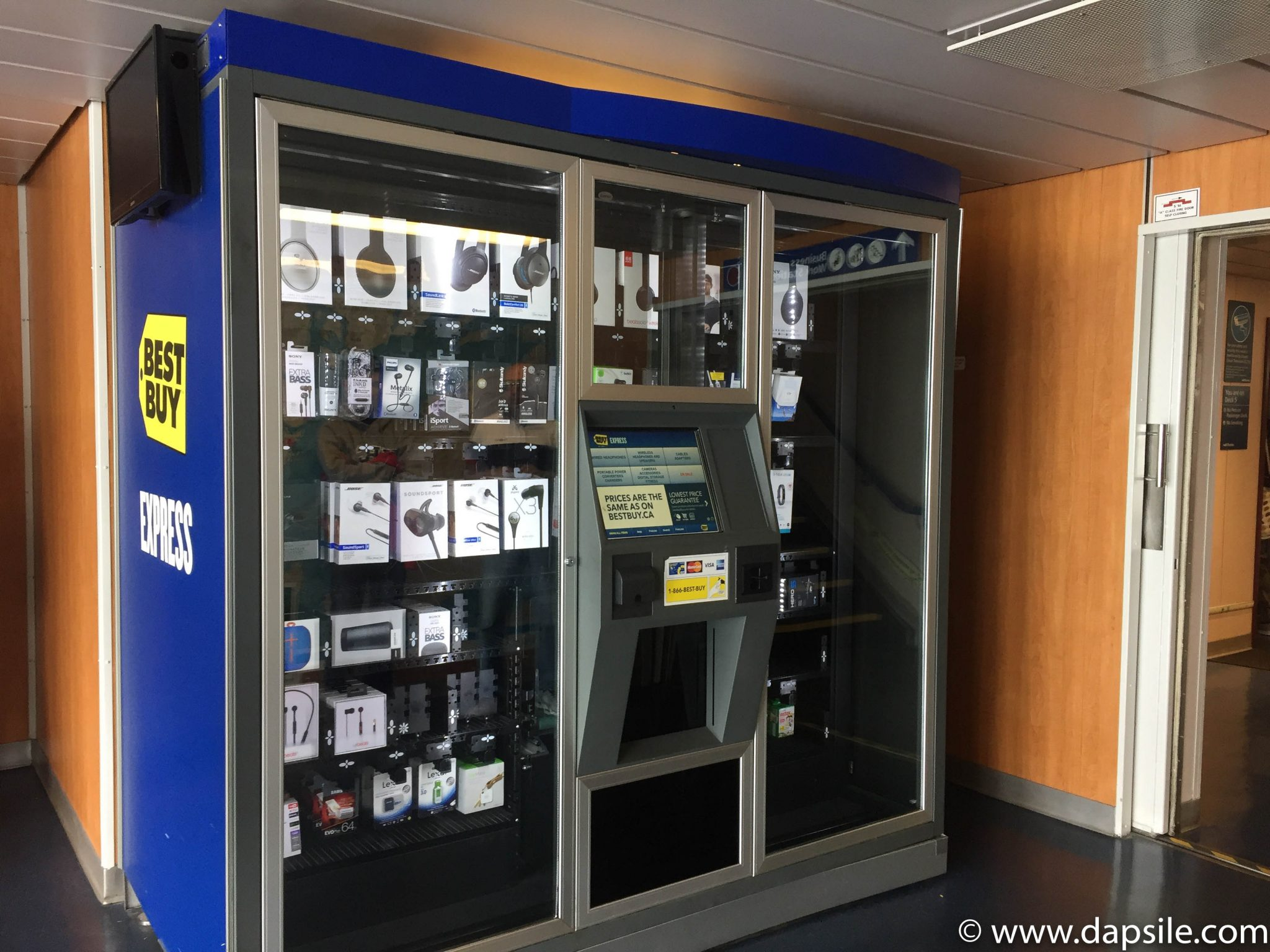 Electronics vending machine from travelling from Vancouver to Victoria by ferry