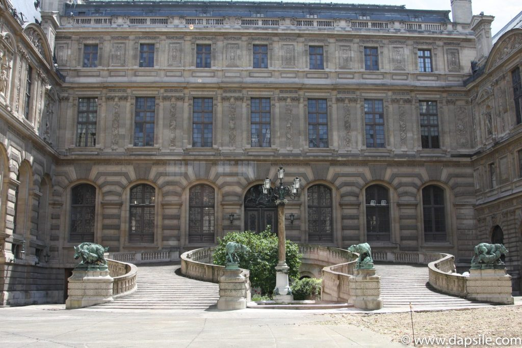 An Entrance to a Courtyard at the Louvre in Paris