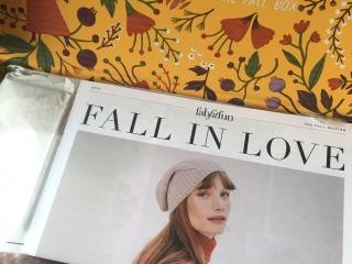 FabFitFun Fall 2017 open box with magazine