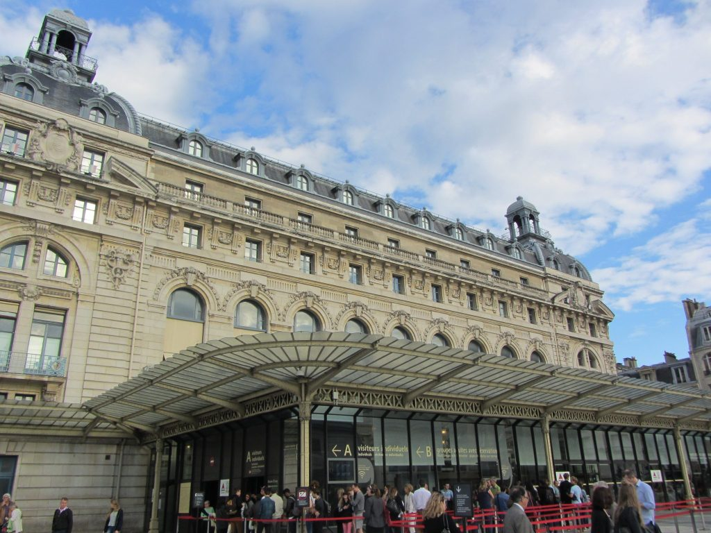 Old Hotel and Train Station Building Now the Musee d'Orsay in Paris