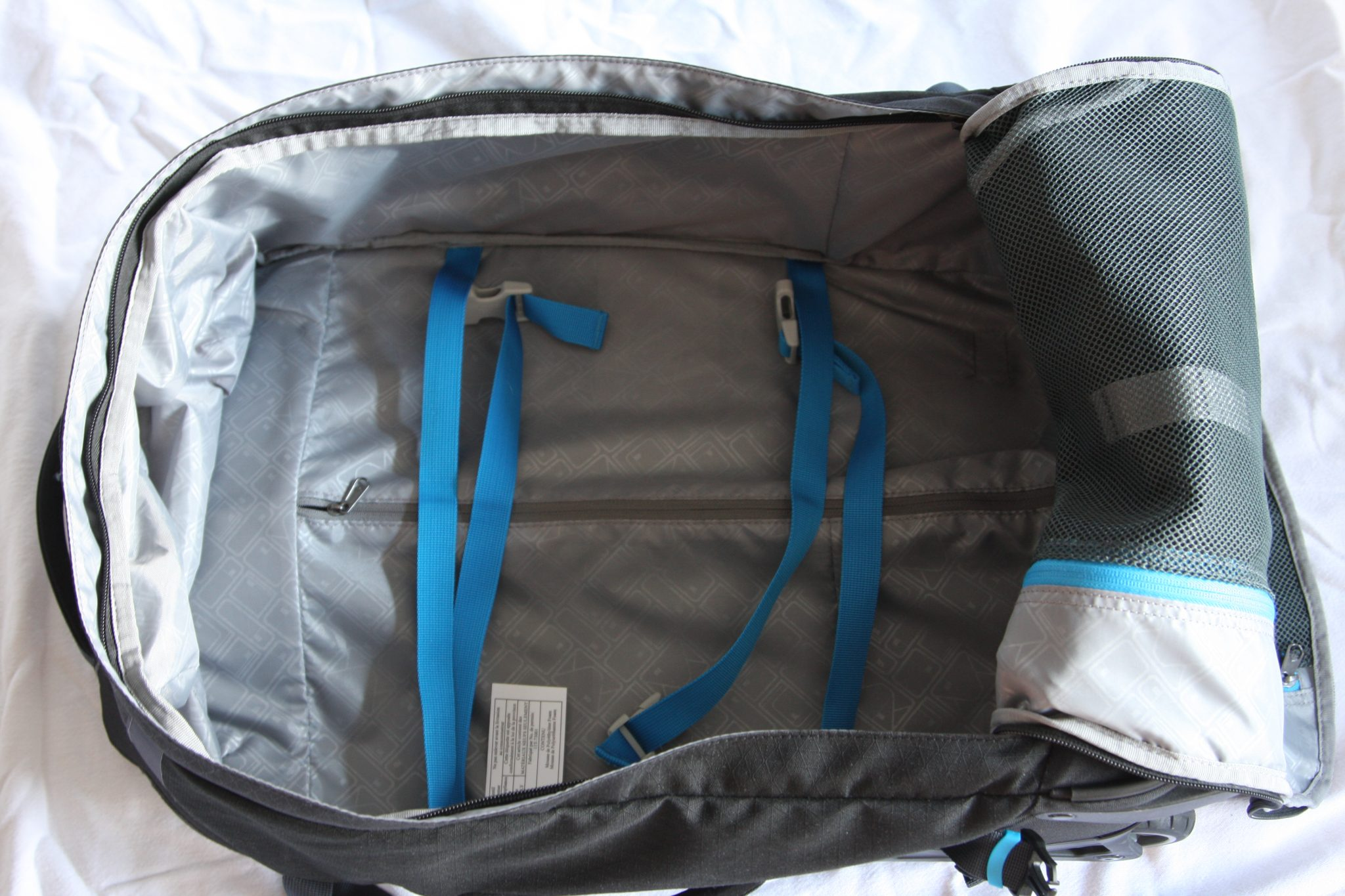 Eagle Creek Doubleback Wheeled Backpack open