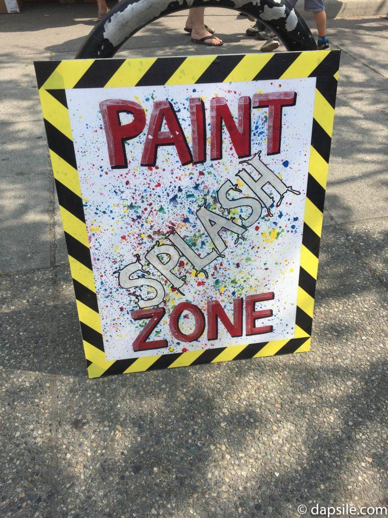 Mural Festival Paint Splash Zone Sign