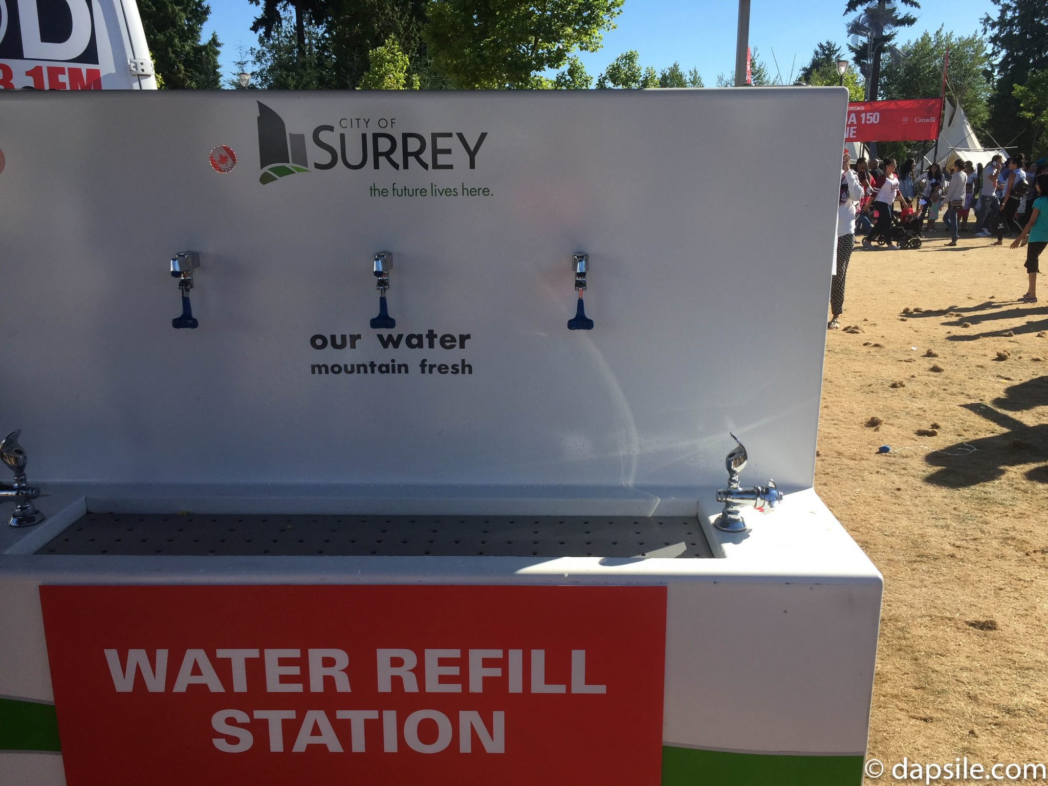 Summer Street Festivals in the Vancouver Area Water Refill Station