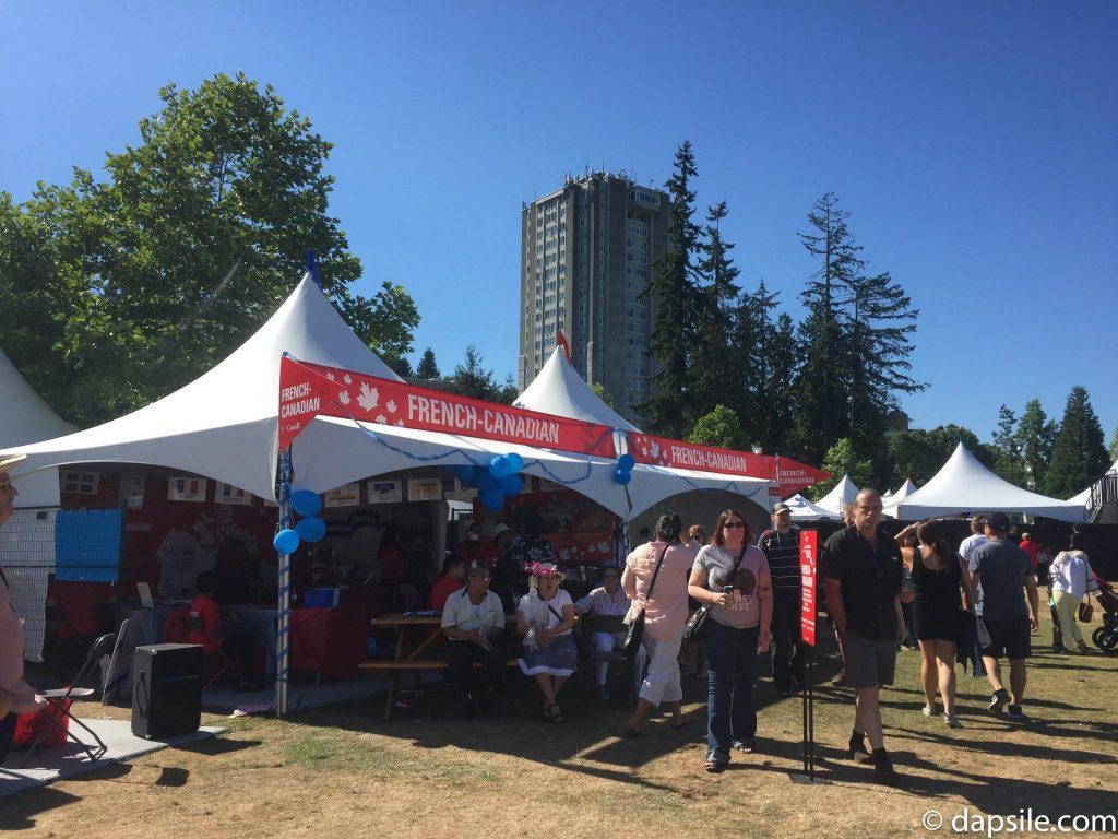 Surrey Fusion Festival French Canadian Pavilion