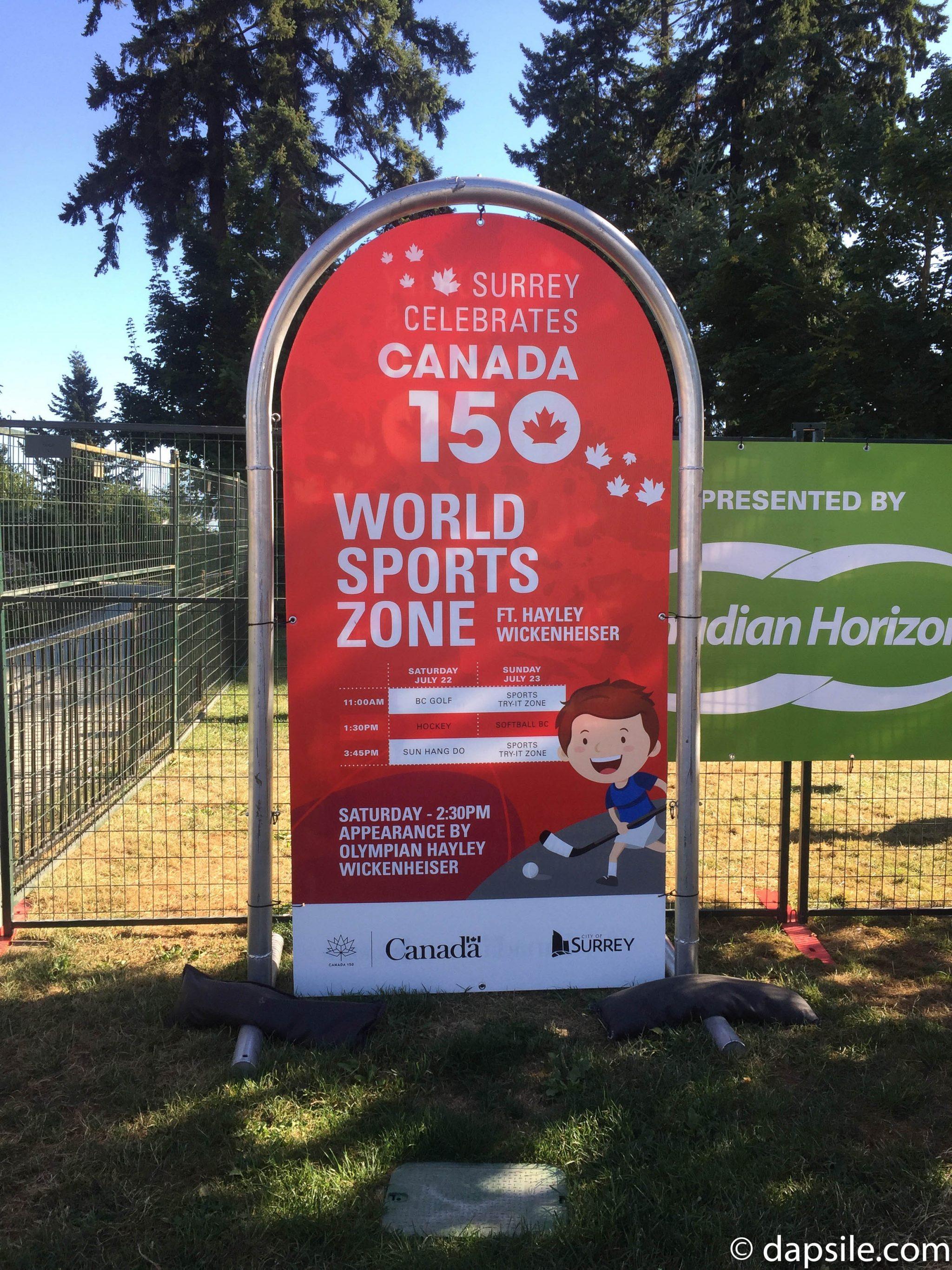 Surrey Fusion Festival 2017 World Sports Zone Schedule