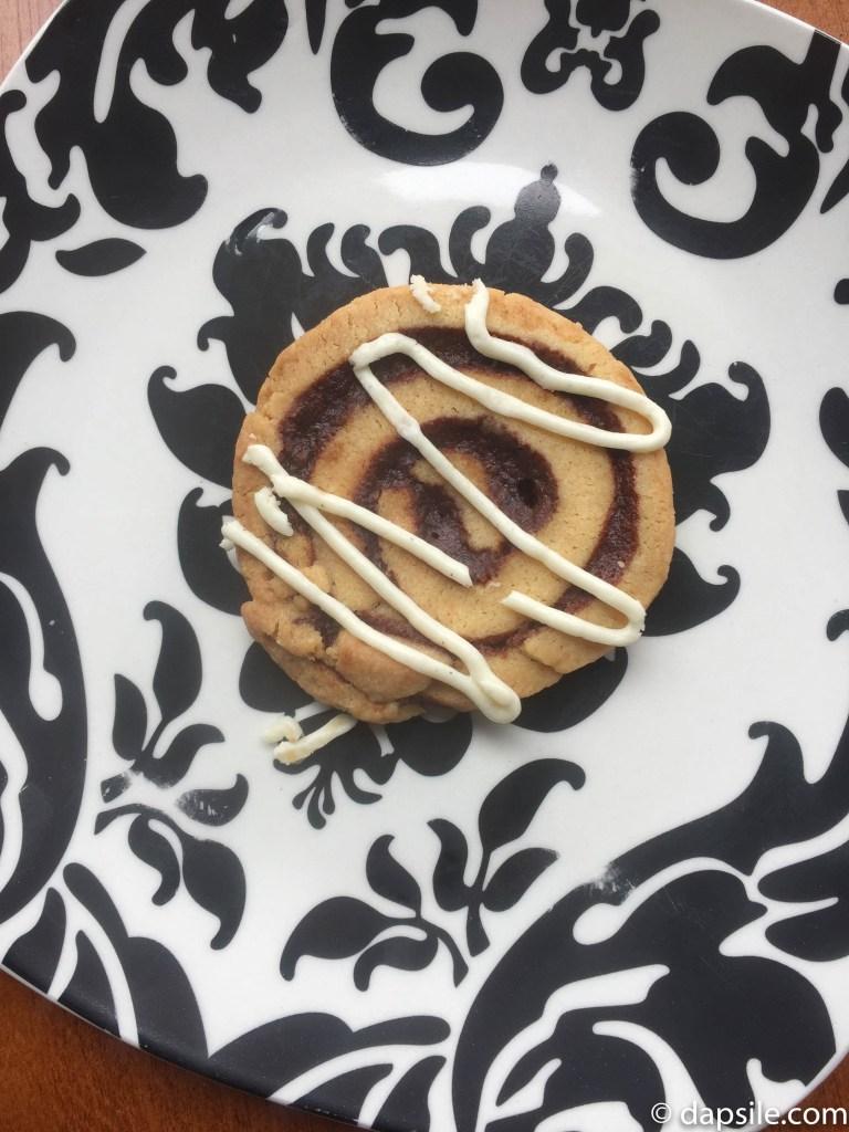 Sweet Somethings Cinnamon Bun Cookie Cookie for the Challenge