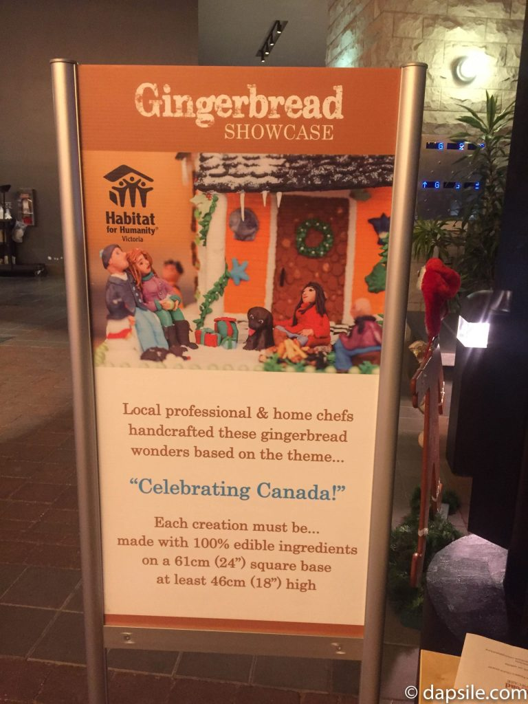 Things to Do in Victoria Gingerbread House Display Sign