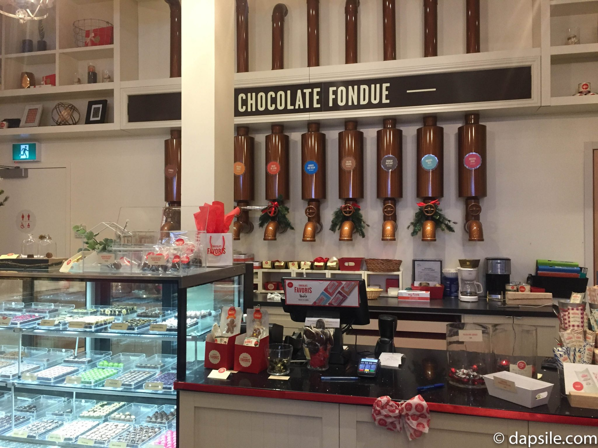 Things to do in Victoria Chocolats Favoris Wall of Chocolates and Fondue