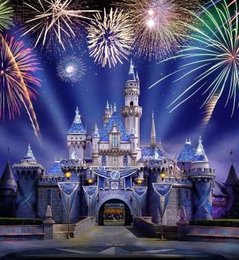 Sleeping Beauty Castle during Disneyland Forever - Disneyland Diamond Celebration - Artist's Rendering