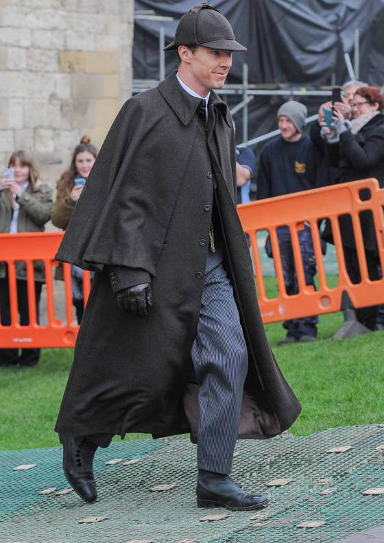 Benedict Cumberbatch as Sherlock Holmes for Christmas Special