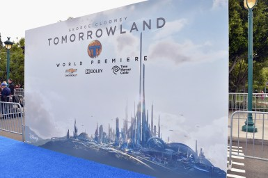 """ANAHEIM, CA - MAY 09: World premiere of Disney's """"Tomorrowland"""" at Disneyland, Anaheim on May 9, 2015 in Anaheim, California. (Photo by Alberto E. Rodriguez/Getty Images for Disney)"""