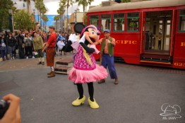 Minnie Mouse Joins Mickey Mouse in Red Car Trolley News Boys-18
