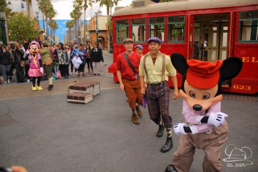 Minnie Mouse Joins Mickey Mouse in Red Car Trolley News Boys-24