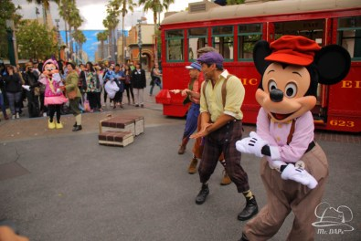 Minnie Mouse Joins Mickey Mouse in Red Car Trolley News Boys-26
