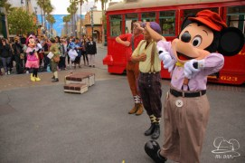 Minnie Mouse Joins Mickey Mouse in Red Car Trolley News Boys-30