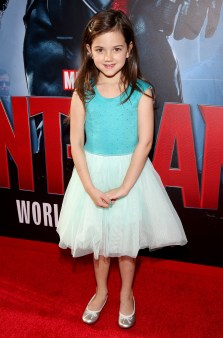 "LOS ANGELES, CA - JUNE 29: Actress Abby Ryder Fortson attends the world premiere of Marvel's ""Ant-Man"" at The Dolby Theatre on June 29, 2015 in Los Angeles, California. (Photo by Jesse Grant/Getty Images for Disney) *** Local Caption *** Abby Ryder Fortson"
