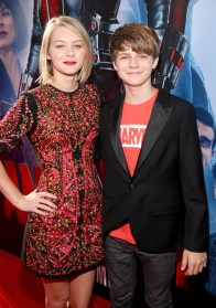 """LOS ANGELES, CA - JUNE 29: Actors Ryan Simpkins (L) and Ty Simpkins attend the world premiere of Marvel's """"Ant-Man"""" at The Dolby Theatre on June 29, 2015 in Los Angeles, California. (Photo by Jesse Grant/Getty Images for Disney) *** Local Caption *** Ryan Simpkins;Ty Simpkins"""