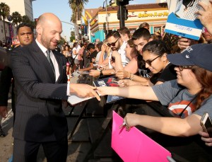 """LOS ANGELES, CA - JUNE 29: Actor Corey Stoll signs autographs for fans at the world premiere of Marvel's """"Ant-Man"""" at The Dolby Theatre on June 29, 2015 in Los Angeles, California. (Photo by Jesse Grant/Getty Images for Disney) *** Local Caption *** Corey Stoll"""