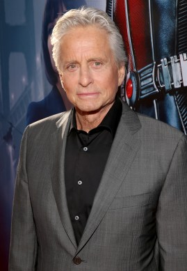 """LOS ANGELES, CA - JUNE 29: Actor Michael Douglas attends the world premiere of Marvel's """"Ant-Man"""" at The Dolby Theatre on June 29, 2015 in Los Angeles, California. (Photo by Jesse Grant/Getty Images for Disney) *** Local Caption *** Michael Douglas"""