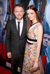"""LOS ANGELES, CA - JUNE 29: Tv personality Chris Hardwick (L) and actress Lydia Hearst attend the world premiere of Marvel's """"Ant-Man"""" at The Dolby Theatre on June 29, 2015 in Los Angeles, California. (Photo by Jesse Grant/Getty Images for Disney) *** Local Caption *** Chris Hardwick;Lydia Hearst"""