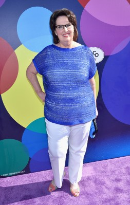 HOLLYWOOD, CA - JUNE 08: Actress Phyllis Smith attends the Los Angeles Premiere and Party for Disney•Pixar's INSIDE OUT at El Capitan Theatre on June 8, 2015 in Hollywood, California. (Photo by Alberto E. Rodriguez/Getty Images for Disney) *** Local Caption *** Phyllis Smith
