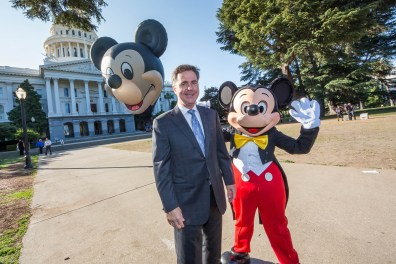 Michael Colglazier and Mickey at Capitol