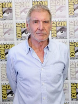 SAN DIEGO, CA - JULY 10: Actor Harrison Ford at the Hall H Panel for `Star Wars: The Force Awakens` during Comic-Con International 2015 at the San Diego Convention Center on July 10, 2015 in San Diego, California. (Photo by Jesse Grant/Getty Images for Disney) *** Local Caption *** Harrison Ford