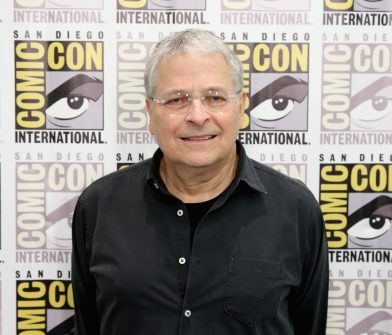 SAN DIEGO, CA - JULY 10: Screenwriter Lawrence Kasdan at the Hall H Panel for `Star Wars: The Force Awakens` during Comic-Con International 2015 at the San Diego Convention Center on July 10, 2015 in San Diego, California. (Photo by Jesse Grant/Getty Images for Disney) *** Local Caption *** Lawrence Kasdan