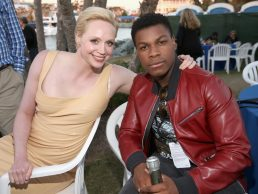 SAN DIEGO, CA - JULY 10: Actors Gwendoline Christie (L), John Boyega and more than 6000 fans enjoyed a surprise `Star Wars` Fan Concert performed by the San Diego Symphony, featuring the classic `Star Wars` music of composer John Williams, at the Embarcadero Marina Park South on July 10, 2015 in San Diego, California. (Photo by Jesse Grant/Getty Images for Disney) *** Local Caption *** Gwendoline Christie; John Boyega