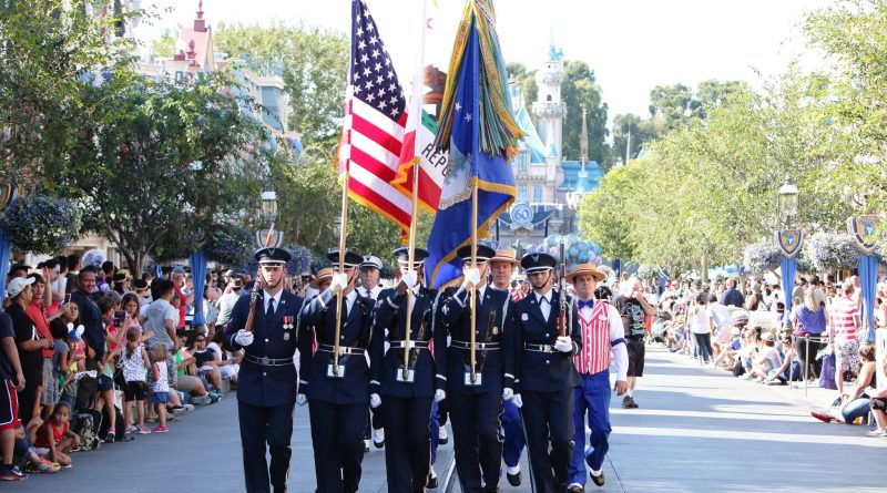 United States Air Force Honor Guard from Washington D.C. in Disney California Adventure (DAPs Magic)