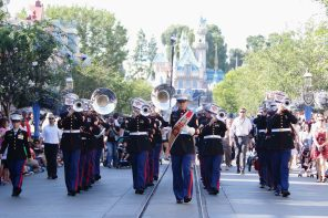 United States 3rd Marine Aircraft Wing Band from Miramar, CA on Main Street, USA at Disneyland on the Fourth of July (DAPs Magic)