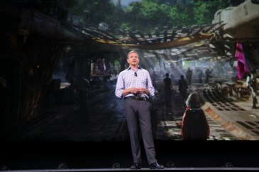 "ANAHEIM, CA - AUGUST 15: The Walt Disney Company Chairman and CEO Bob Iger took part today in ""Worlds, Galaxies, and Universes: Live Action at The Walt Disney Studios"" presentation at Disney's D23 EXPO 2015 in Anaheim, Calif. (Photo by Jesse Grant/Getty Images for Disney) *** Local Caption *** Bob Iger"