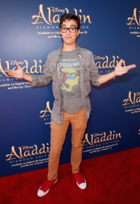 "BURBANK, CA - SEPTEMBER 27: Actor Joey Bragg attends a special LA screening celebrating Diamond Edition release of ""ALADDIN"" at The Walt Disney Studios on September 27, 2015 in Burbank, California. (Photo by Jesse Grant/Getty Images for Disney) *** Local Caption *** Joey Bragg"