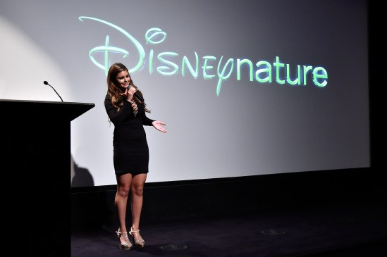 NEW YORK, NY - SEPTEMBER 02: Singer Jacquie Lee speaks on stage at Disneynature's Monkey Kingdom special screening celebrating the film's September15th Blu-ray / Digital HD release on September 2, 2015 in New York City. (Photo by Mike Coppola/Getty Images for Disneynature)