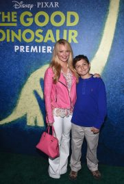 HOLLYWOOD, CA - NOVEMBER 17: Actress Charlotte Ross (L) and Maxwell Ross Goldman attend the World Premiere Of Disney-Pixar's THE GOOD DINOSAUR at the El Capitan Theatre on November 17, 2015 in Hollywood, California. (Photo by Alberto E. Rodriguez/Getty Images for Disney) *** Local Caption *** Charlotte Ross; Maxwell Ross Goldman