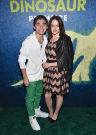 HOLLYWOOD, CA - NOVEMBER 17: Actors Ryan Ochoa and Joey King attend the World Premiere Of Disney-Pixar's THE GOOD DINOSAUR at the El Capitan Theatre on November 17, 2015 in Hollywood, California. (Photo by Alberto E. Rodriguez/Getty Images for Disney) *** Local Caption *** Ryan Ochoa; Joey King