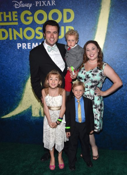 HOLLYWOOD, CA - NOVEMBER 17: The Ballinger family attend the World Premiere Of Disney-Pixar's THE GOOD DINOSAUR at the El Capitan Theatre on November 17, 2015 in Hollywood, California. (Photo by Alberto E. Rodriguez/Getty Images for Disney) *** Local Caption *** Ballinger