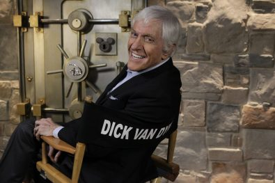 "THE WONDERFUL WORLD OF DISNEY - Disney Legend Dick Van Dyke, who portrays Bert, the carefree Cockney chimney sweep in ""Mary Poppins,"" will host interstitials throughout ABC's broadcast of ""'The Wonderful World of Disney' Presented by Target Brings You 'Mary Poppins'"" on SATURDAY, DECEMBER 12 (8:00-11:00 p.m., ET). Van Dyke will be joined by the Target's mascot, ""Bullseye,"" the lovable bull terrier. This holiday event marks the first network television broadcast of ""Mary Poppins"" in 13 years. (ABC/Rick Rowell) DICK VAN DYKE"