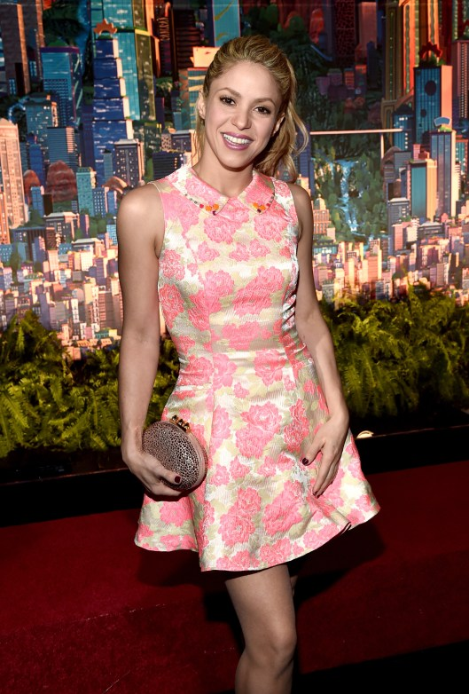 """HOLLYWOOD, CA - FEBRUARY 17: Singer Shakira attends the Los Angeles premiere of Walt Disney Animation Studios' """"Zootopia"""" on February 17, 2016 in Hollywood, California. (Photo by Alberto E. Rodriguez/Getty Images for Disney) *** Local Caption *** Shakira"""