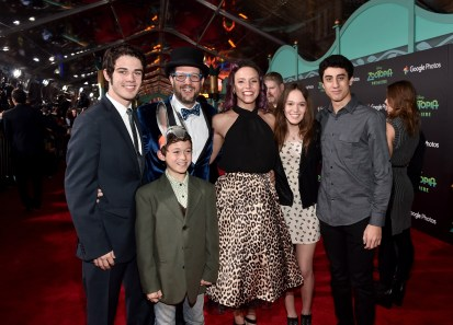 """HOLLYWOOD, CA - FEBRUARY 17: Composer Michael Giacchino and family attend the Los Angeles premiere of Walt Disney Animation Studios' """"Zootopia"""" on February 17, 2016 in Hollywood, California. (Photo by Alberto E. Rodriguez/Getty Images for Disney) *** Local Caption *** Michael Giacchino"""