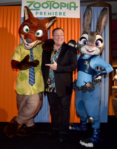 "HOLLYWOOD, CA - FEBRUARY 17: Excutive Producer John Lasseter attends the Los Angeles premiere of Walt Disney Animation Studios' ""Zootopia"" on February 17, 2016 in Hollywood, California. (Photo by Alberto E. Rodriguez/Getty Images for Disney) *** Local Caption *** John Lasseter"