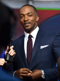 "HOLLYWOOD, CALIFORNIA - APRIL 12: Actor Anthony Mackie attends The World Premiere of Marvel's ""Captain America: Civil War"" at Dolby Theatre on April 12, 2016 in Los Angeles, California. (Photo by Lester Cohen/Getty Images for Disney) *** Local Caption *** Anthony Mackie"