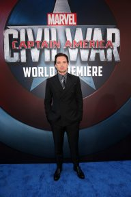 """HOLLYWOOD, CALIFORNIA - APRIL 12: Actor Sebastian Stan attends The World Premiere of Marvel's """"Captain America: Civil War"""" at Dolby Theatre on April 12, 2016 in Los Angeles, California. (Photo by Jesse Grant/Getty Images for Disney) *** Local Caption *** Sebastian Stan"""