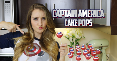 Captain America - Cake Pops