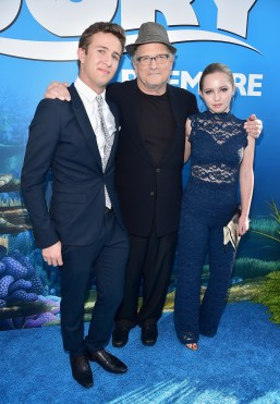 HOLLYWOOD, CA - JUNE 08: Actor Albert Brooks (C) and guests attend The World Premiere of Disney-Pixar's FINDING DORY on Wednesday, June 8, 2016 in Hollywood, California. (Photo by Alberto E. Rodriguez/Getty Images for Disney) *** Local Caption *** Albert Brooks