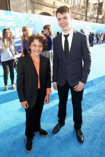 HOLLYWOOD, CA - JUNE 08: Actors Hayden Rolence (L) and Alexander Gould attend The World Premiere of Disney-Pixar's FINDING DORY on Wednesday, June 8, 2016 in Hollywood, California. (Photo by Jesse Grant/Getty Images for Disney ) *** Local Caption *** Hayden Rolence; Alexander Gould