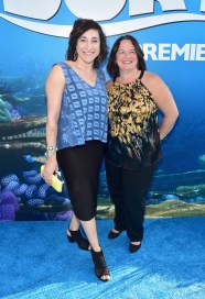 HOLLYWOOD, CA - JUNE 08: Producer Katherine Sarafian (L) and guest attend The World Premiere of Disney-Pixar's FINDING DORY on Wednesday, June 8, 2016 in Hollywood, California. (Photo by Alberto E. Rodriguez/Getty Images for Disney) *** Local Caption *** Katherine Sarafian
