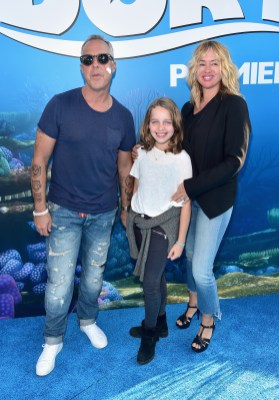 HOLLYWOOD, CA - JUNE 08: (L-R) Actor Titus Welliver, guest and Jose Stemkens attend The World Premiere of Disney-Pixar's FINDING DORY on Wednesday, June 8, 2016 in Hollywood, California. (Photo by Alberto E. Rodriguez/Getty Images for Disney) *** Local Caption *** Titus Welliver; Jose Stemkens