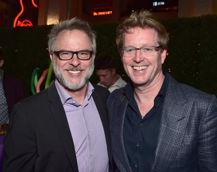 HOLLYWOOD, CA - JUNE 08: Director Rich Moore (L) and Director/screenwriter Andrew Stanton attend The World Premiere of Disney-Pixar's FINDING DORY on Wednesday, June 8, 2016 in Hollywood, California. (Photo by Alberto E. Rodriguez/Getty Images for Disney) *** Local Caption *** Rich Moore; Andrew Stanton
