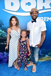 "HOLLYWOOD, CA - JUNE 08: Tv personality/professional dancer Allison Holker, guest and Professional dancer Stephen ""tWitch"" Boss attend The World Premiere of Disney-Pixar's FINDING DORY on Wednesday, June 8, 2016 in Hollywood, California. (Photo by Alberto E. Rodriguez/Getty Images for Disney) *** Local Caption *** Allison Holker; Stephen Boss"